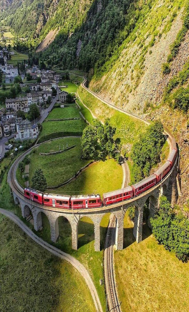 Brusio Spiral Viaduct, Switzerland!