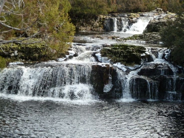 Waterfall on the Nature Walk near Dove Lake  up at Cradle Mountain