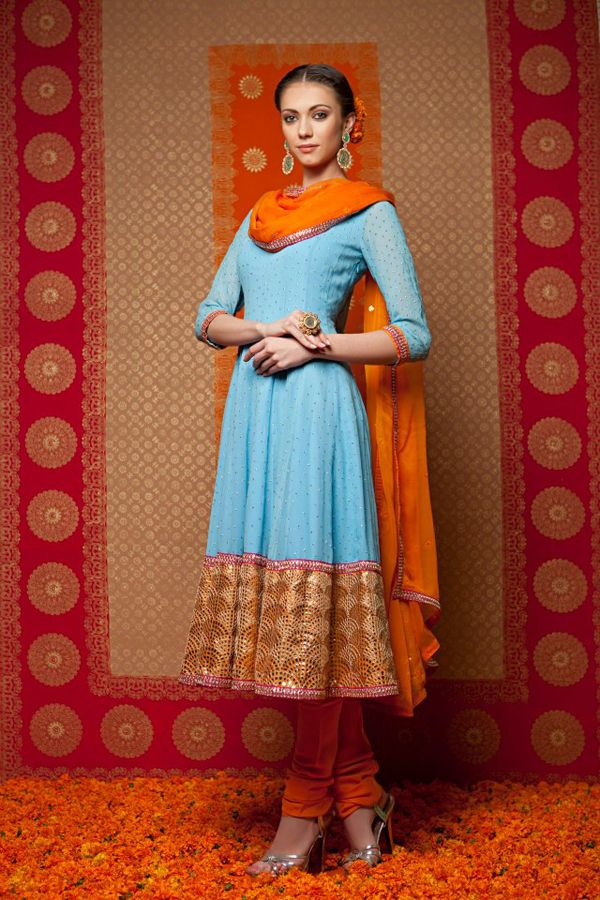 Indian by Manish Arora - not keen on the light blue and orange but love the style