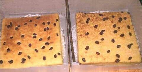 Cake tape keju kismis by me