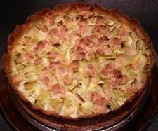 Rezept schneller Rharbarberkuchen mit Mürbteig und Schmandguss von Mariale - Rezept der Kategorie Backen süß