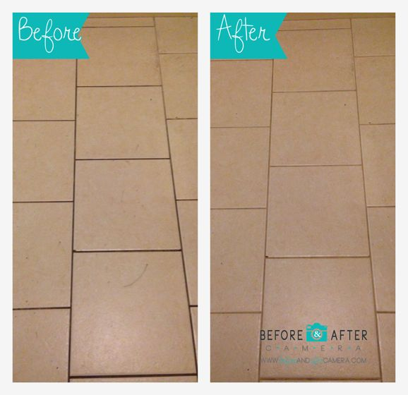 Before Amp After Cleaning Kitchen Tile Grout Cleaning