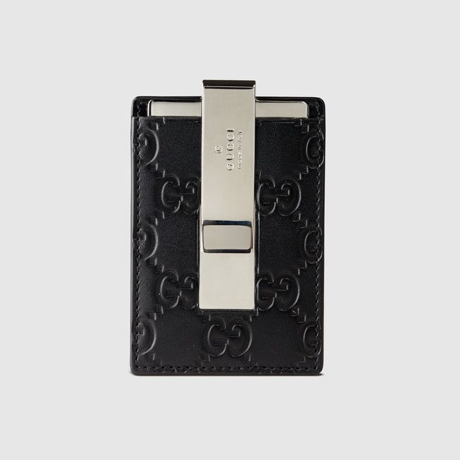 5c55938c83d1 Gucci Signature money clip | Wallets | Gucci men, Money clip wallet, Money  clip