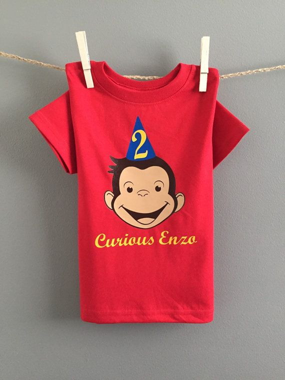 Curious George Birthday Shirt/Onesie Curious by WeeLoveToShop