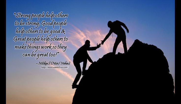 help others motivatetolive blog