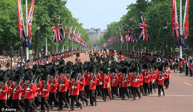 Pomp and ceremony: Watching the Trooping of the Colour in London is one of the 50 experiences everyone should enjoy at least once