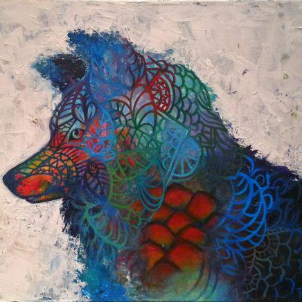 Zentangle Abstract Wolf