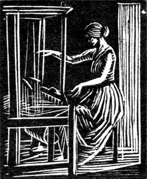 jewelry online shopping   34 Weaving  34  by Gwen Raverat  1932  wood engraving
