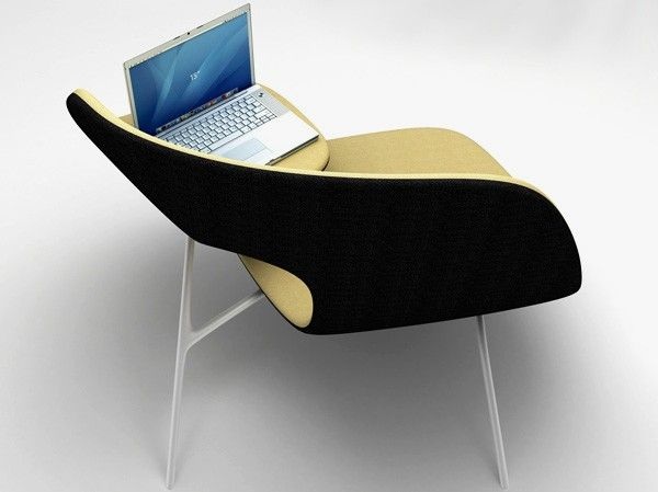 Placing Notebook with Modern Chair Design for Lovers