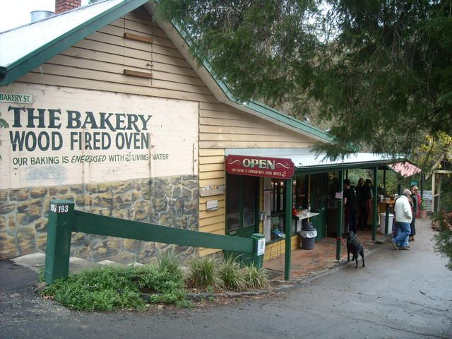 100 years Old Warrandyte Bakery overlooks Federaion Playspace and the Yarra River