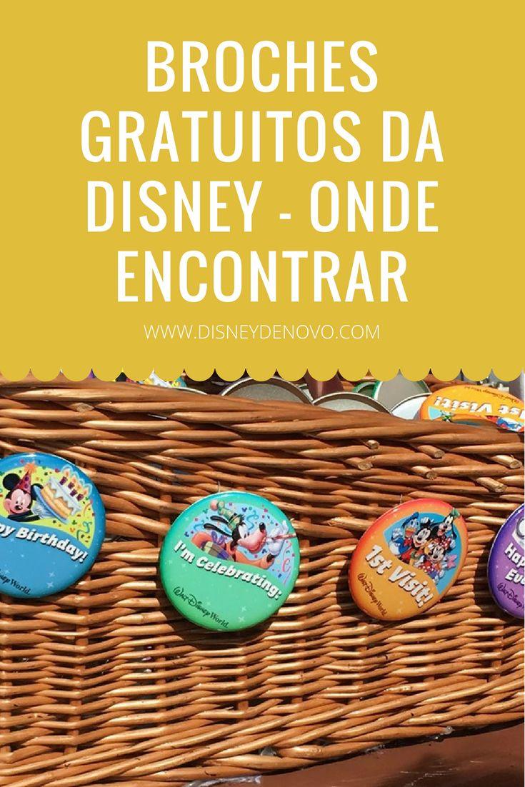 Broches comemorativos da Disney de graça