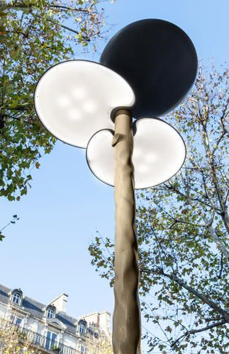 Wooden Solar Ed Street Lamps Reflect Paris S Design History