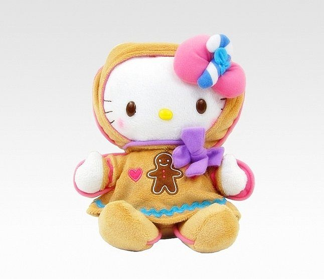 Before going to bed on Christmas Eve, snuggle up with your own Hello Kitty Gingerbread Plush ($49).