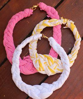 трикотажная пряжа ожерелье