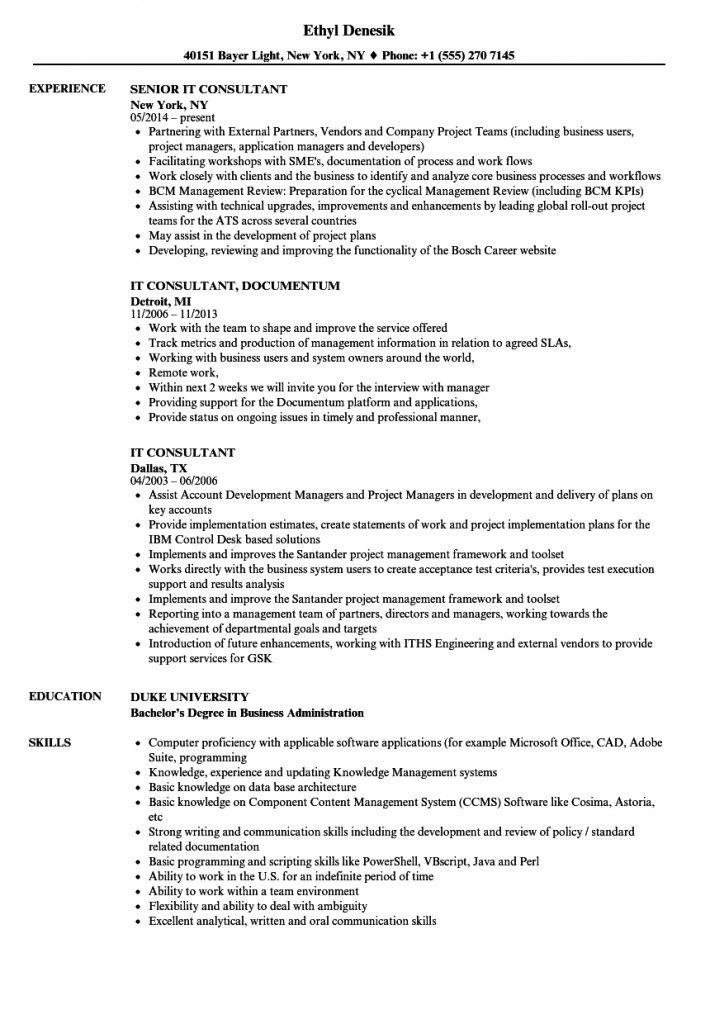 It Professional Resume 2021 In 2021 Professional Resume Samples Professional Resume Resume Template Professional
