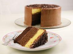 Ombre cake al cioccolato