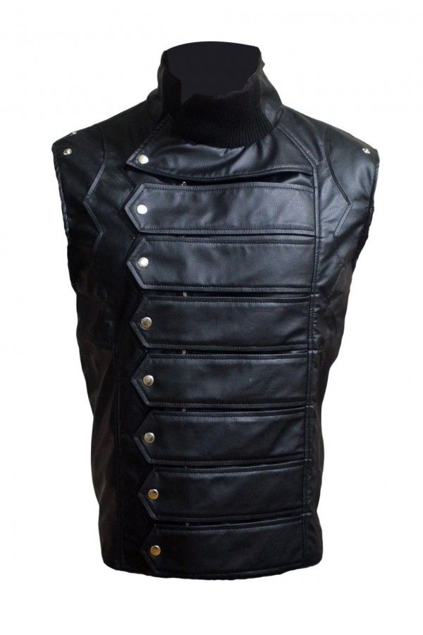 Winter Soldier Bucky Barnes Leather Vest Jacket