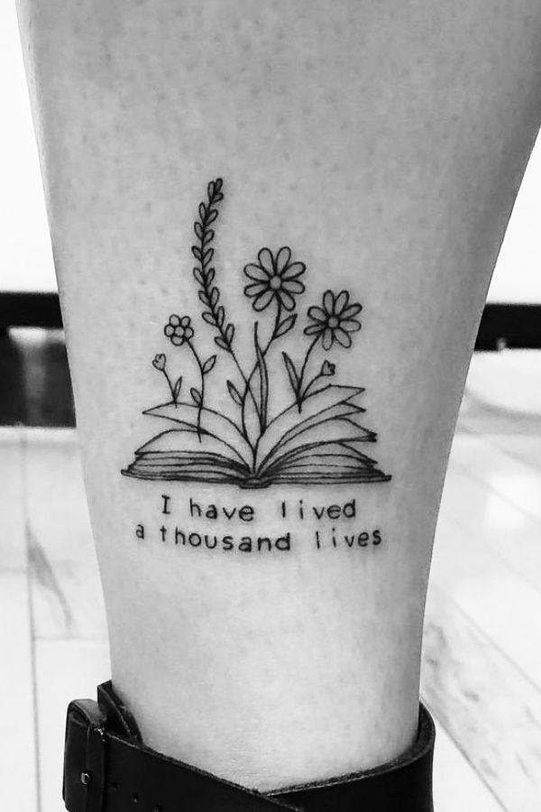 Awe-inspiring Book Tattoos for Literature Lovers   #ozilook#tattoo#smalltattoo#tattooforwomen