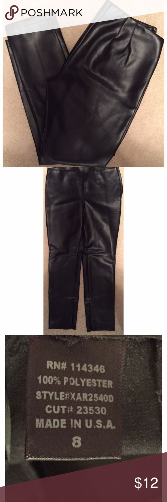Sexy Black Faux Leather Pants New without Tags, these hot faux leather pants will complement any sexy top for a night a the club! Pants