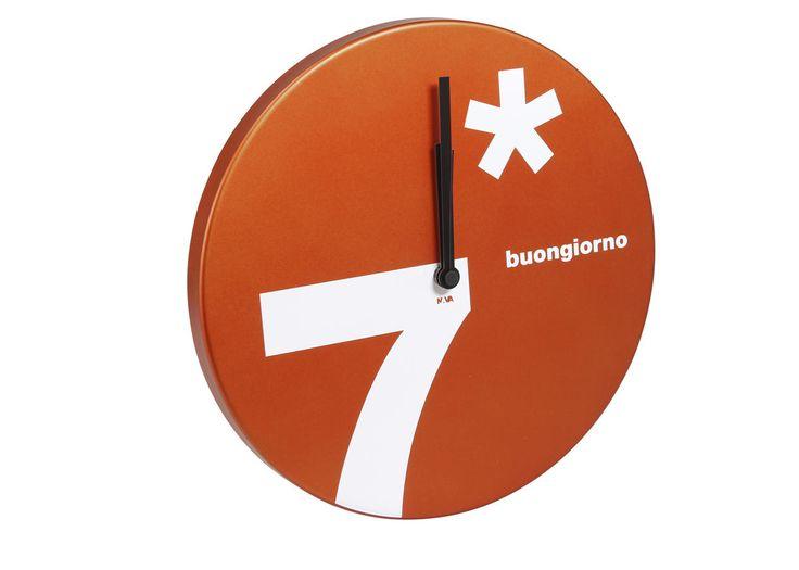 """Design wall clock """"Buongiorno"""", 31 cm - Time - NAVA Design! #ValentinesDay"""