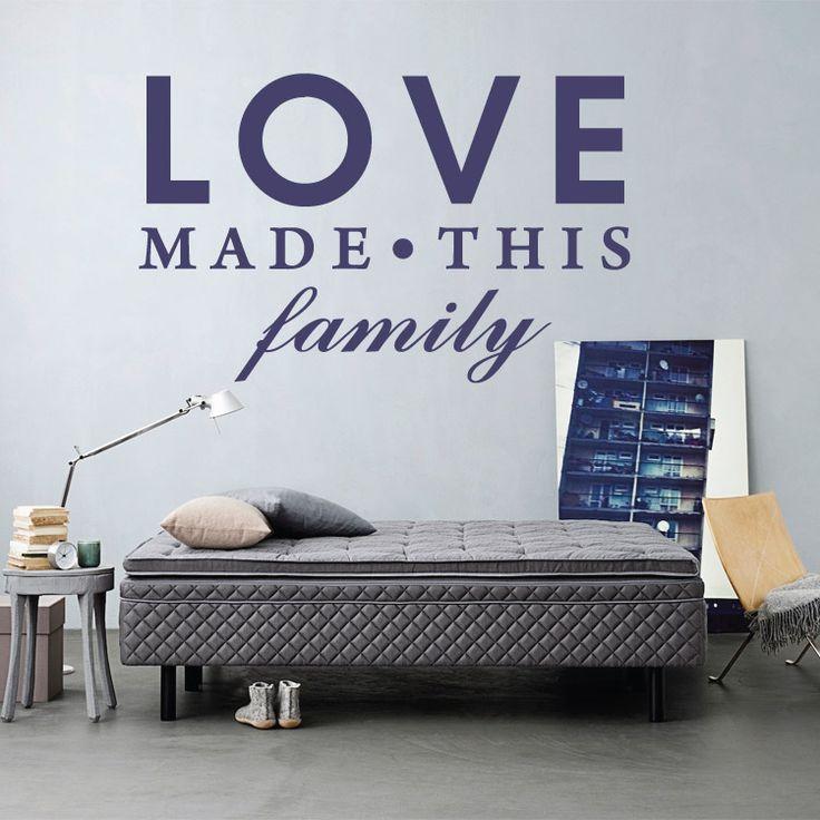 Love made this family - Αυτοκόλλητο τοίχου Houseart