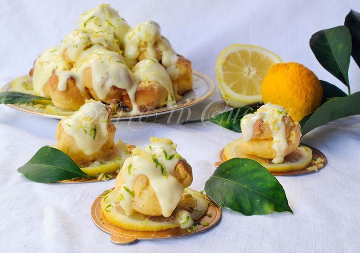 Profiteroles al limone di Sal de Riso al limoncello vickyart arte in cucina