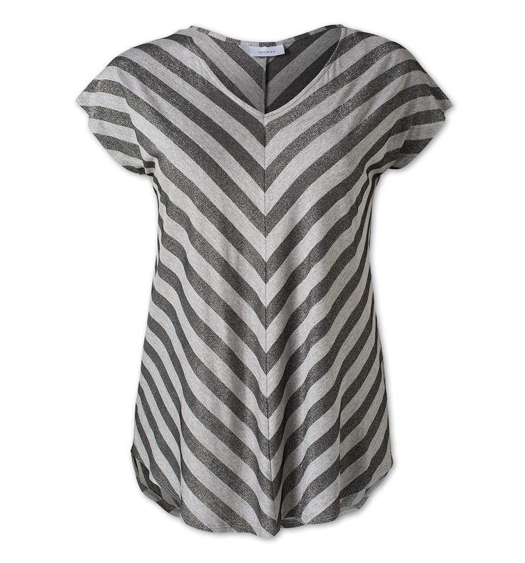 Damen Glitzer-Shirt in grau - Mode günstig online kaufen - C&A
