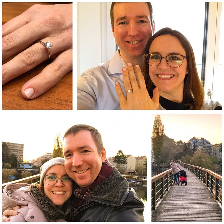 Congratulations to our customers Andreas and Karin on their engagement! Andreas proposed in Vienna, and chose a gorgeous Solitaire design in White Gold!  #engaged #proposal #wedding #engagementring