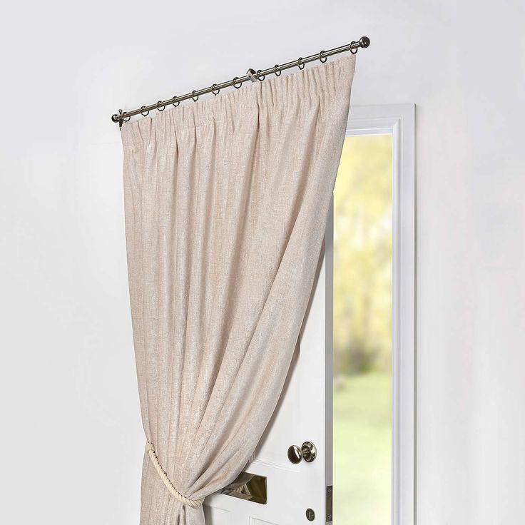 1000 ideas about door curtain pole on pinterest door for Door curtain pole