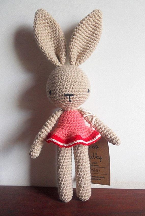 Conejos Bulky Muñecos a - Crochet - Tejidos de Punto ...