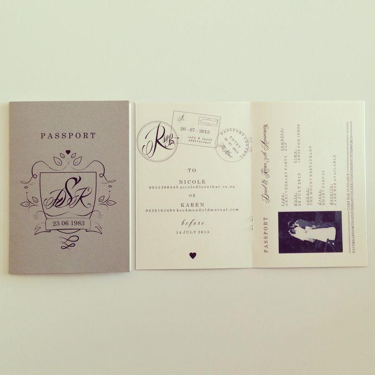 Passport | Anniversary | Invitation | Love That