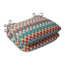 Pillow Perfect Geometric Multicolored Universal Seat Pad 505480