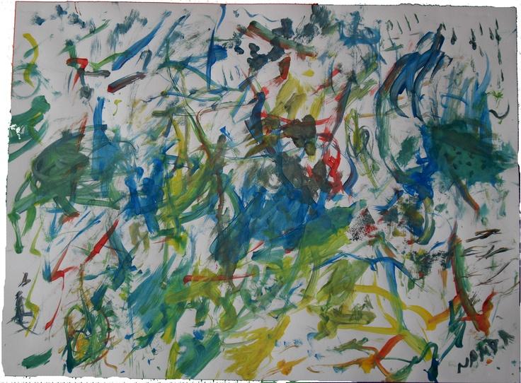 """""""Carnaval fora de época""""  Outubro 2012  Pintura com pinceis e tinta guache  trabalho em casa"""