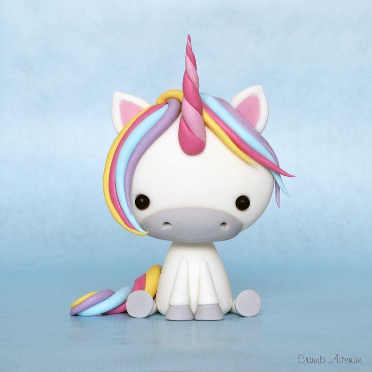 Cute Unicorn Tutorial by Crumb Avenue #fondanttutorial #fondanttutorialunicorn