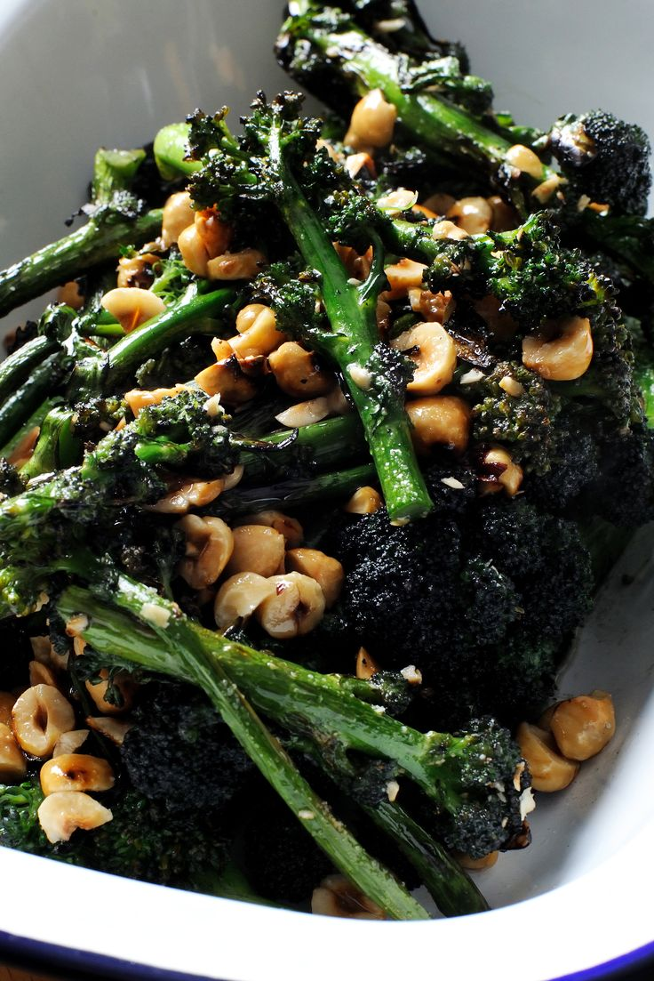 Josh Eggleton's purple sprouting broccoli recipe, with the wonderful contrasting textures of broccoli and toasted hazelnuts, makes for a simple, rustic broccoli side that will go perfectly with fine roasts as well as other vegetarian dishes. Josh further enhances the hazelnut flavour by toasting them and then adding hazelnut oil.