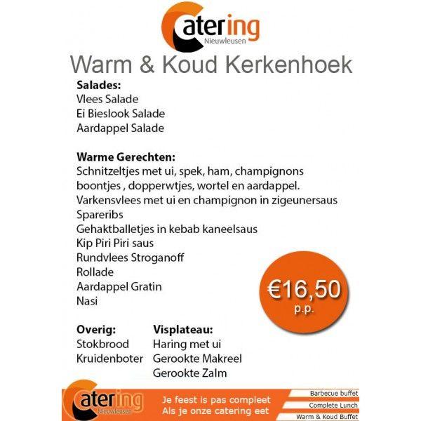 Catering Nieuwleusen Warm en Koud buffet ContiRent Verhuur Nieuwleusen…