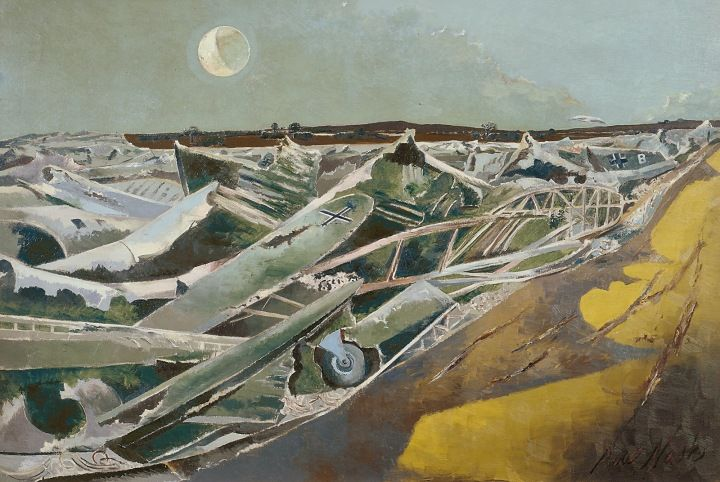 Paul Nash, Totes Meer (Dead Sea),1940-1, Oil paint on canvas collection & © Tate