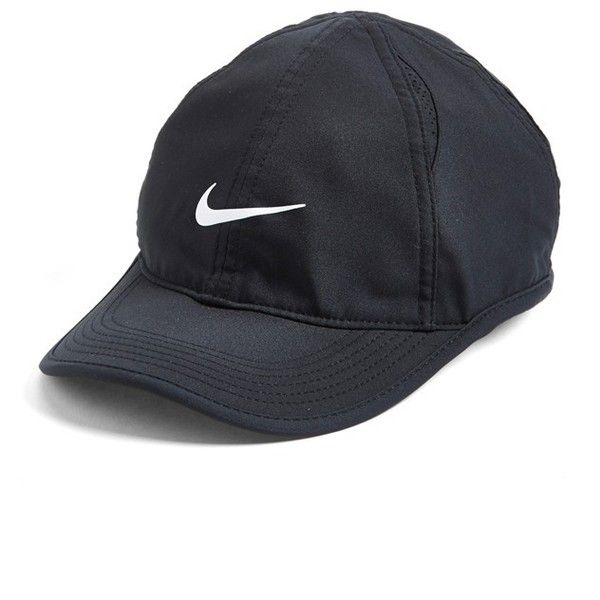 Nike 'Feather Light' Dri-FIT Cap ($24) ❤ liked on Polyvore featuring accessories, hats, acc, adjustable cap, dri fit cap, nike cap, velcro hat et dri fit hat