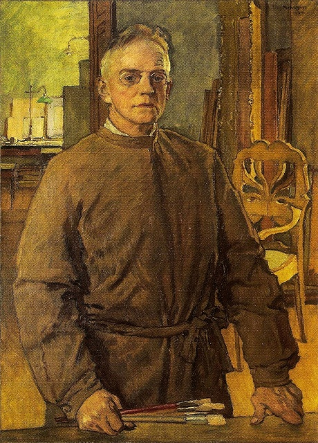Mehoffer, Jozef (1869-1946) - 1937 Self-Portrait (National Museum, Cracow, Poland) by RasMarley, via Flickr