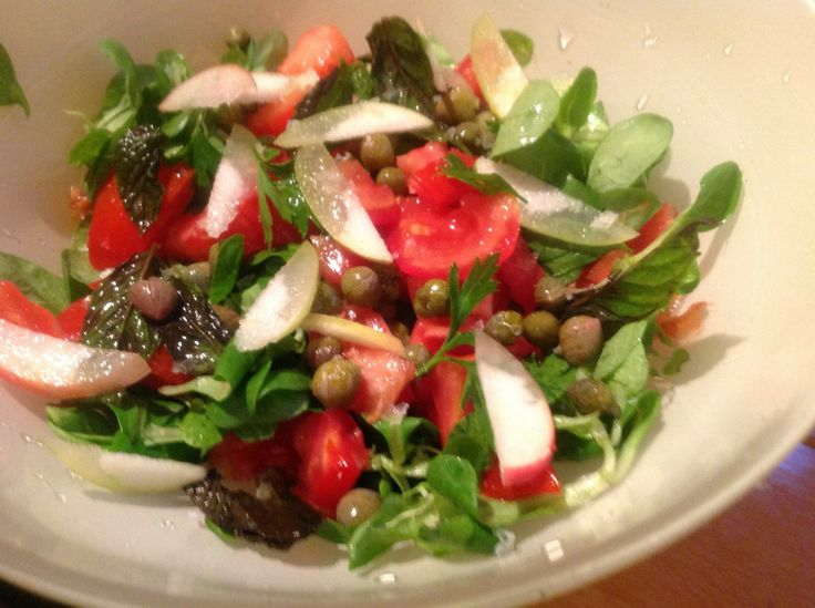 #Recipe for Mediterranean Salad with Capers and Wild Apple