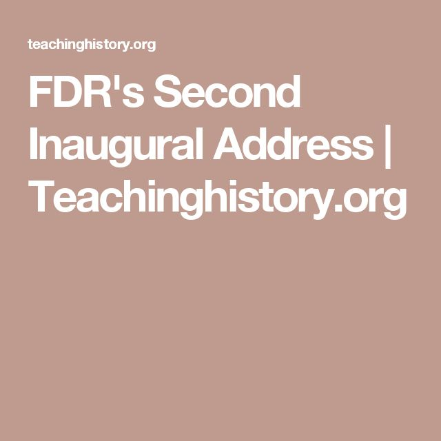 fdrs first inaugural address Fdr's first inaugural address (1933) by raymond moley/franklin delano roosevelt to paraphrase the famous britishism, the primary message of fdr's inaugural address is keep calm and get to work.