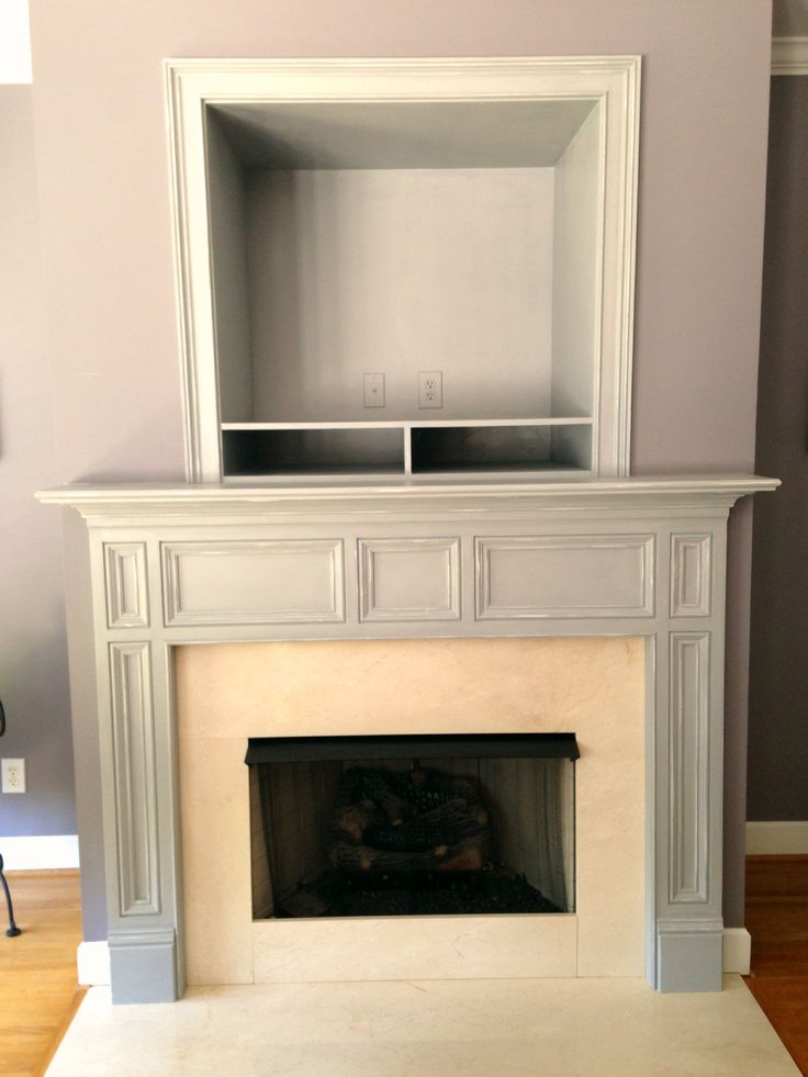 After Davis Mantle Painted Annie Sloan Paris Grey And Lightly Distressed