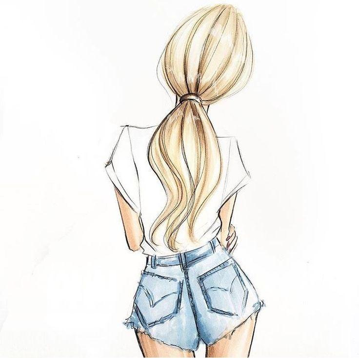 Картинка девочки для срисовки легкие