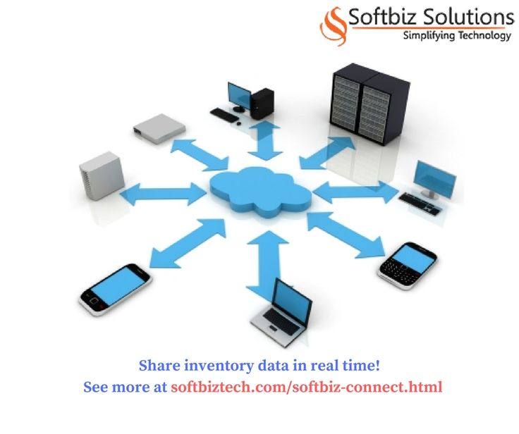 Real time sharing of inventory data! Contact us at http://www.softbiztech.com/softbiz-connect.html