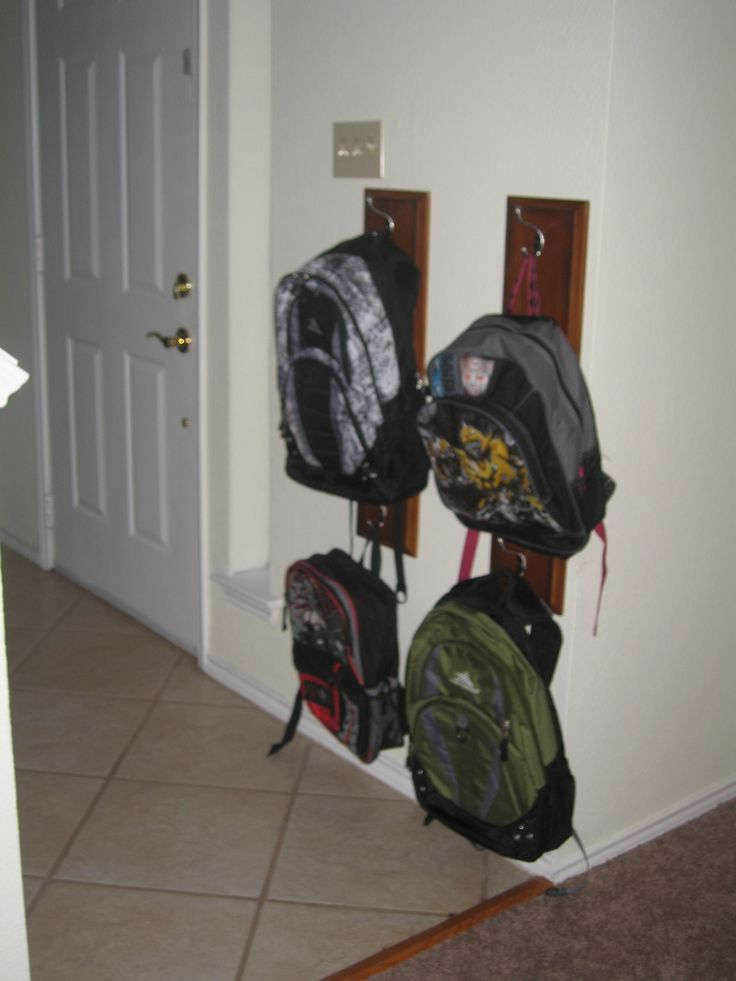 Cookie Nut Creations: Drawer Front into Coat/Backpack Hanger