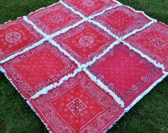 Vintage Style Hanky Handkerchief Rag Quilt Made to by ZeedleBeez
