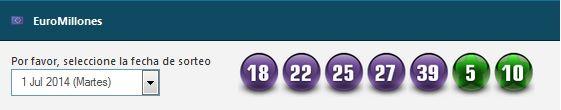 Numeros ganadores de euromillones del sorteo 1 de julio de 2014
