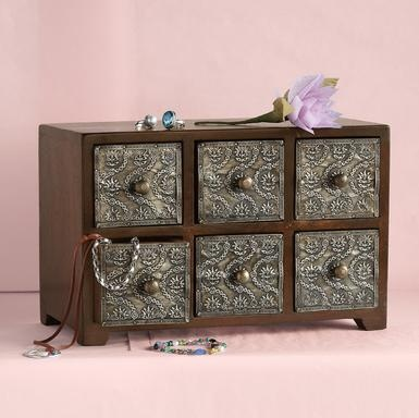 6-DRAWER TREASURE CHEST-to keep your accessories in.: Handcrafted Decoration, Treasure Chest To, Hands, 6 Drawers Treasure, Treasure Chest Each, Jewels, Accessories, Sundanc 6 Drawers, Jewelry Boxes