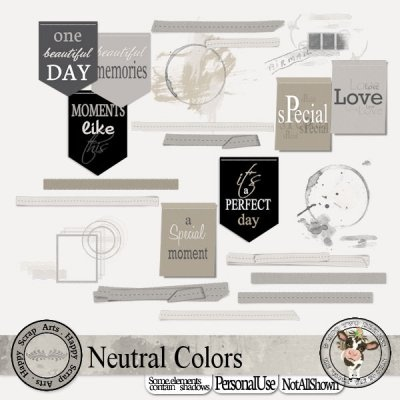 Neutral Colors [Happy Scrap Arts] - $4.95 : Moo Two Designs, The Udder way to Scrap!