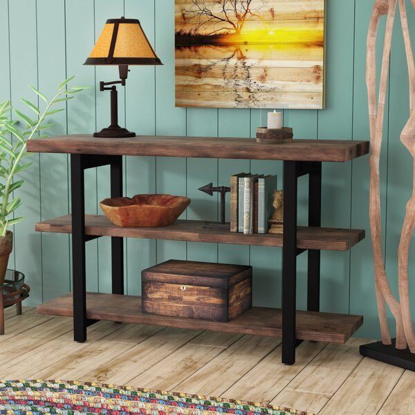 Steadman 48 Solid Wood Console Table In 2020 Wooden Console